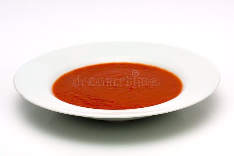 Bacia de sopa do tomate fotografia de stock