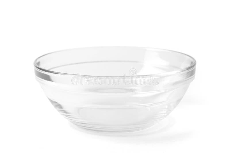 Bacia de sopa transparente no branco foto de stock royalty free