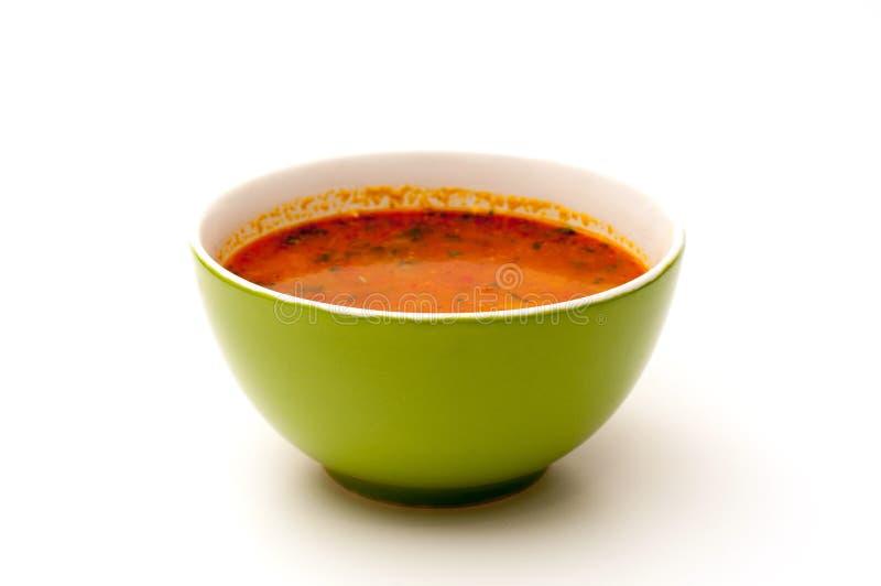 Bacia de sopa verde imagens de stock