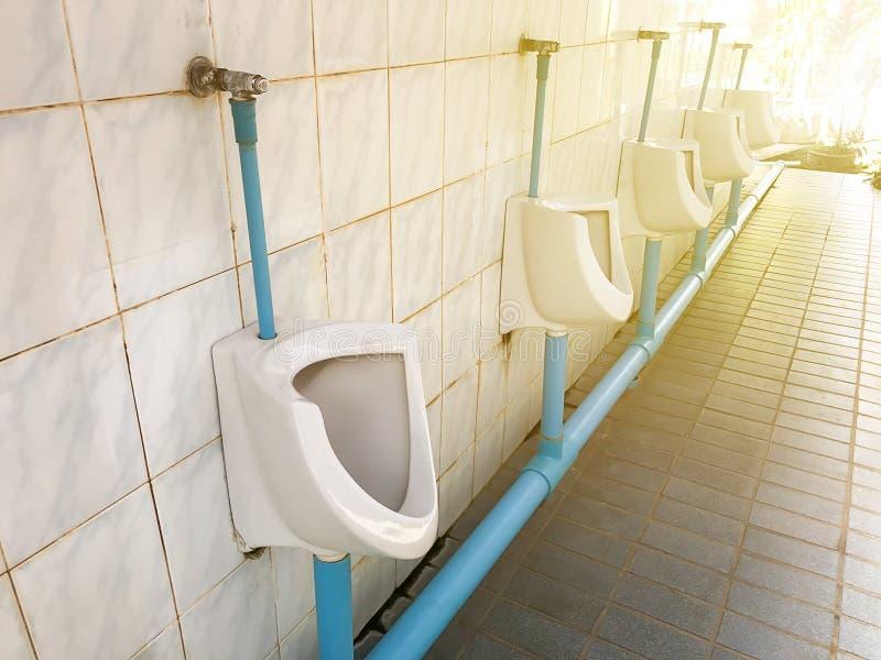 Bacia de toalete em um banheiro moderno, banheiro limpo do toalete nivelado imagem de stock royalty free