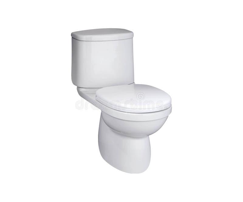 Bacia de toalete em um branco fotos de stock