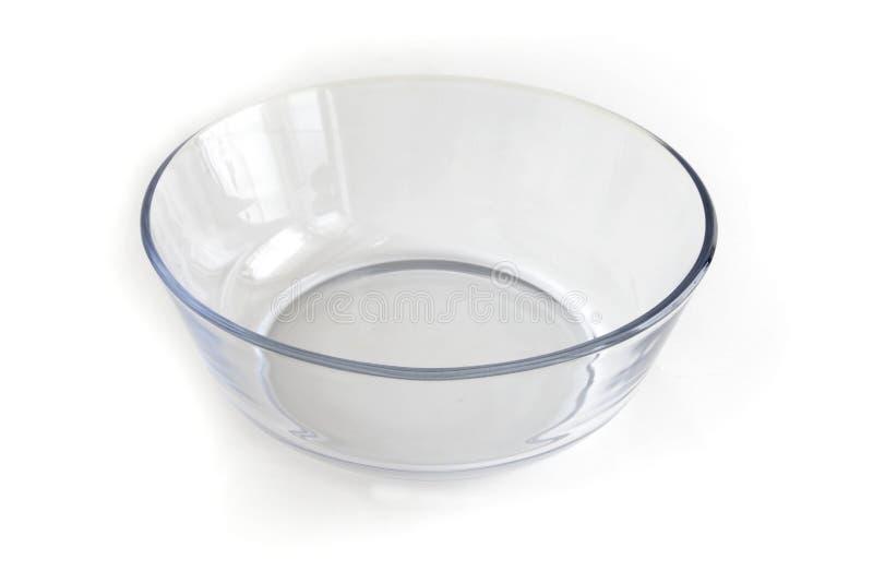 Bacia de vidro da salada fotografia de stock