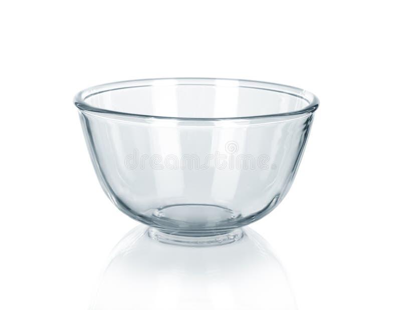Bacia de vidro vazia imagem de stock royalty free