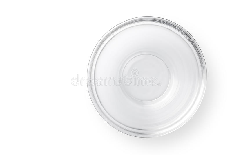 Bacia de vidro vazia fotos de stock