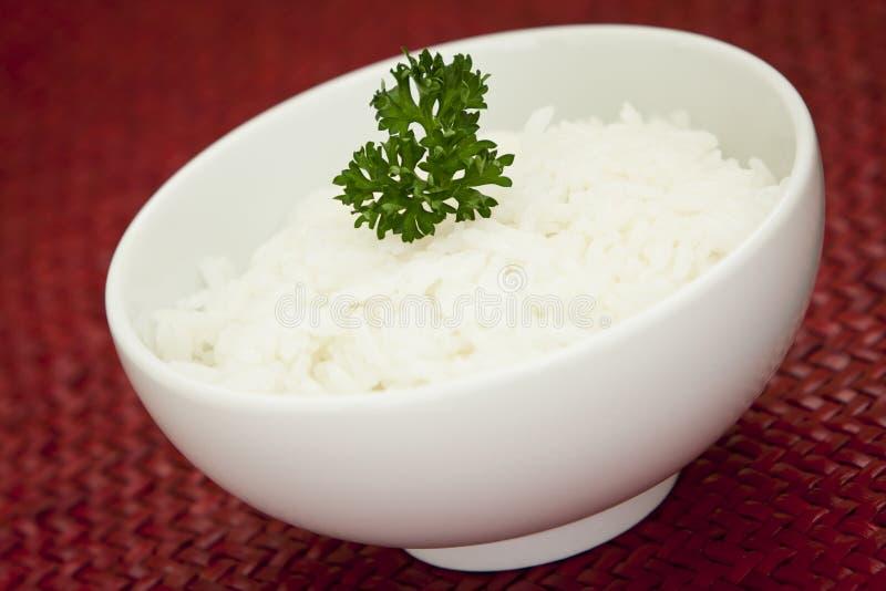 Bacia do arroz branco imagens de stock royalty free