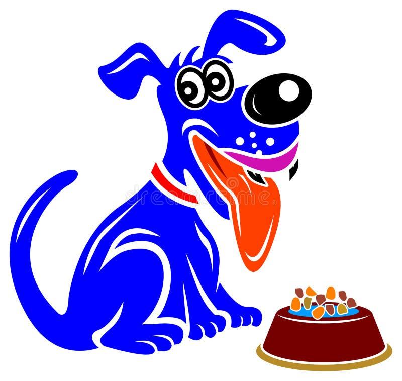 Bacia do cão e do alimento ilustração royalty free