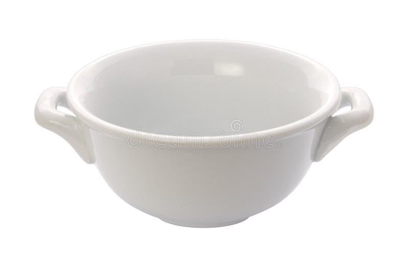 Bacia do Crock da sopa (trajeto de grampeamento) foto de stock