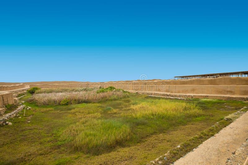 Bacia do lago sagrado Chan Chan Peru fotos de stock royalty free