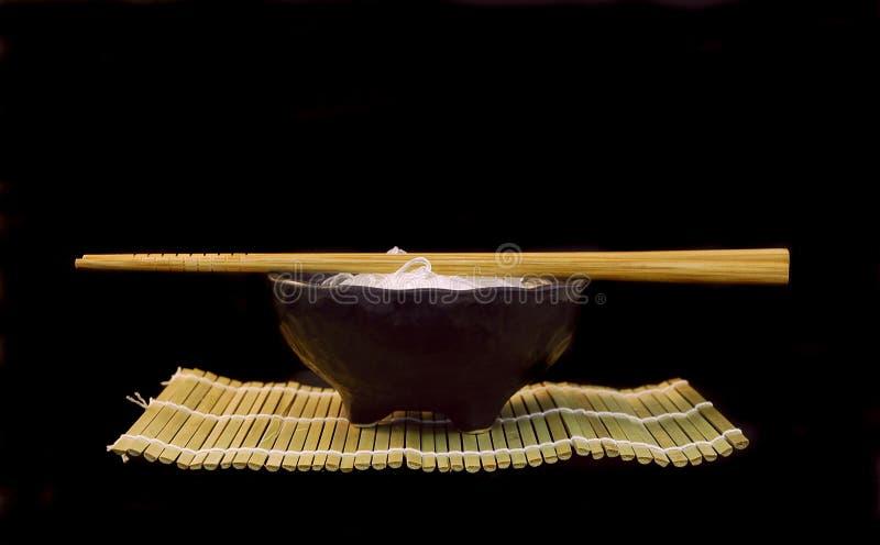 Bacia do macarronete de arroz fotografia de stock