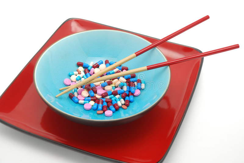 Bacia e chopsticks 2 fotografia de stock