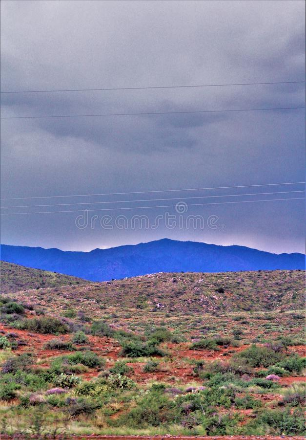 Bacia ensanguentado, floresta nacional de Tonto, o Arizona, Estados Unidos imagem de stock royalty free