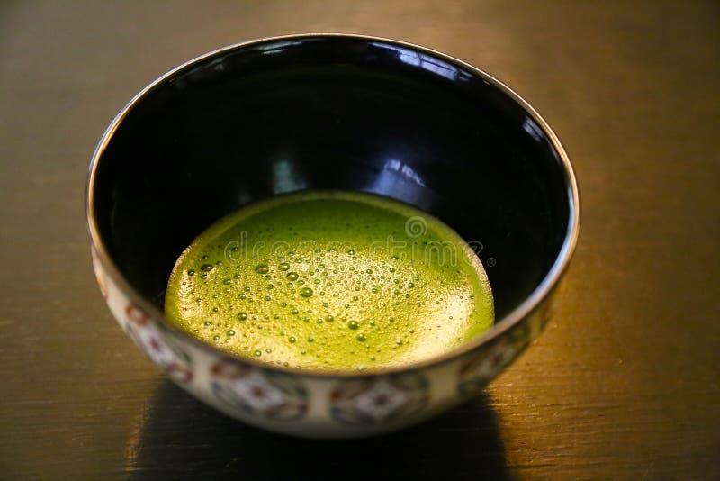 Bacia japonesa tradicional do chá verde (chá de Macha) fotos de stock