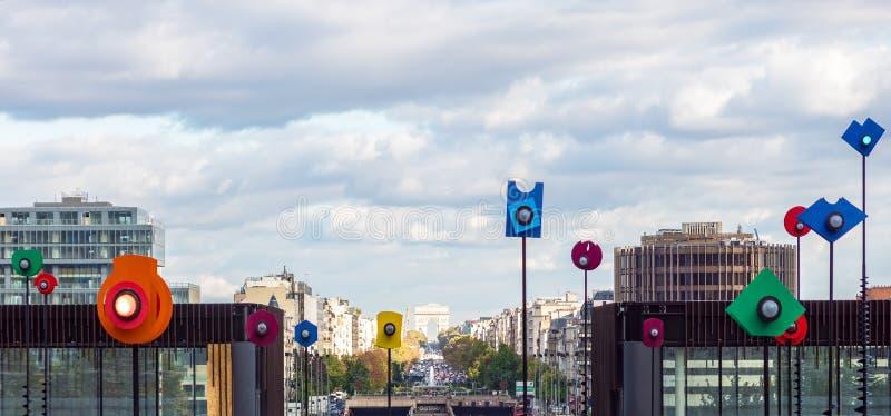 Bacia Takis na defesa do La de Paris - Paris, França foto de stock