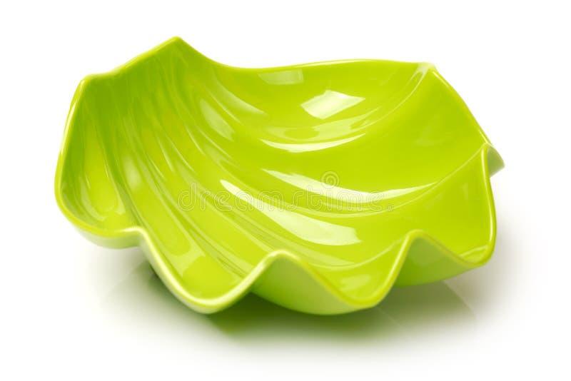 Bacia vazia plástica verde imagem de stock