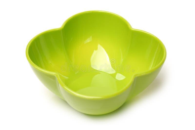 Bacia vazia plástica verde imagem de stock royalty free