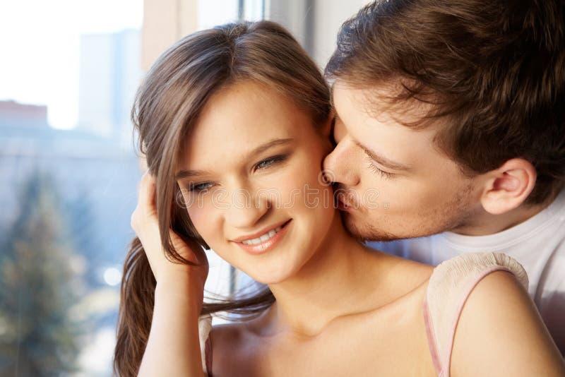 Baciare fotografie stock