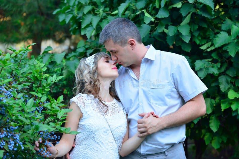 Baciare amoroso delle coppie immagini stock libere da diritti