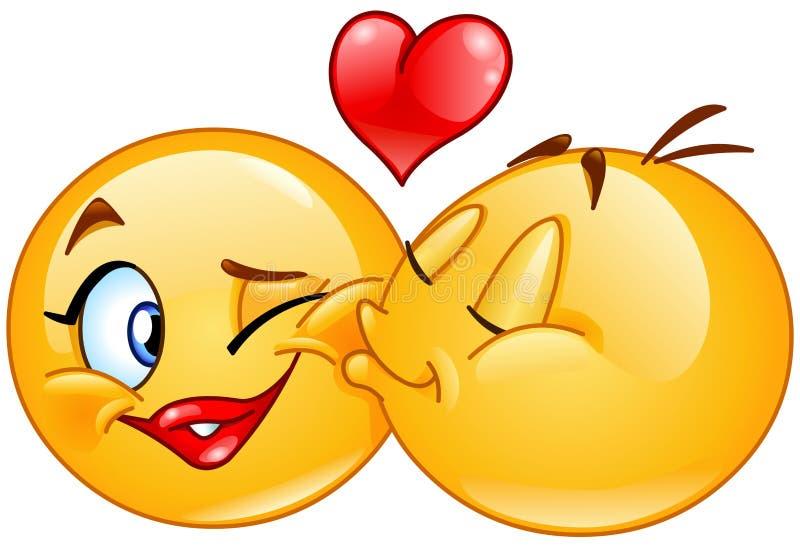 Baciare degli emoticon royalty illustrazione gratis