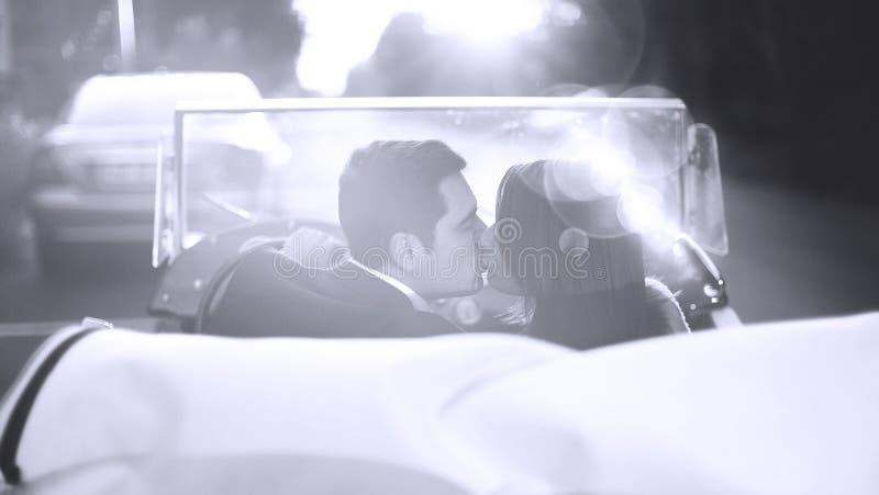 Baciare dello sposo e della sposa immagini stock libere da diritti