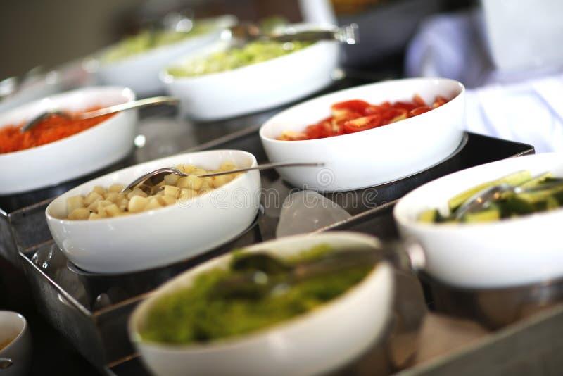 Bacias de salada vegetais foto de stock