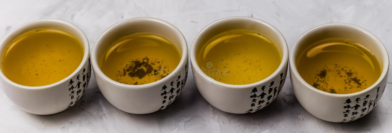 Bacias do chá verde fotos de stock royalty free