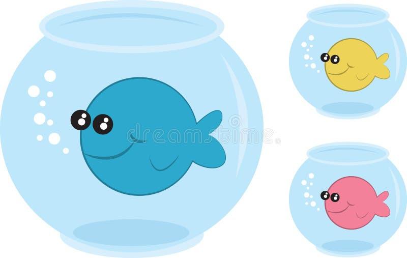 Bacias dos peixes ilustração royalty free