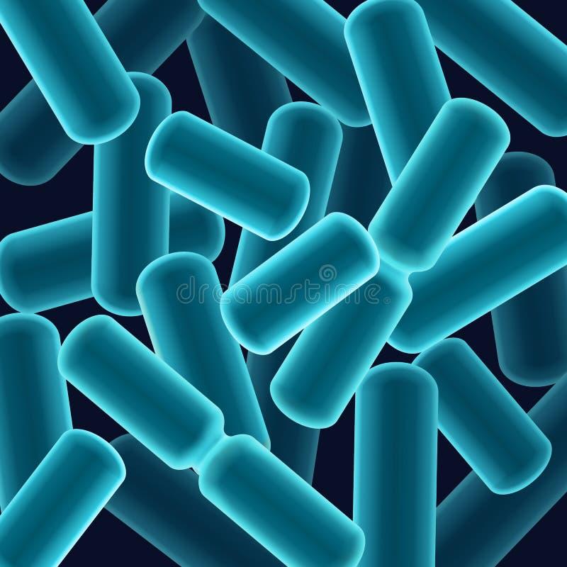 bacilos Barra-formados bacterias ilustración del vector