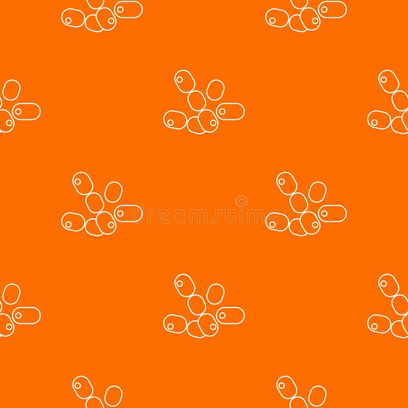 Bacilos naranja del coco del vector del modelo libre illustration