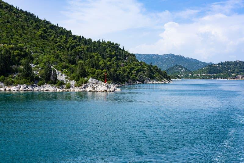 Bacina jeziora, Ploce, Dalmatia zdjęcie royalty free