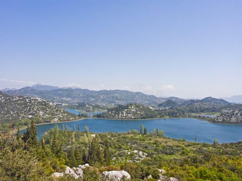 Bacinameren - meerlandschap in Kroatië royalty-vrije stock foto's