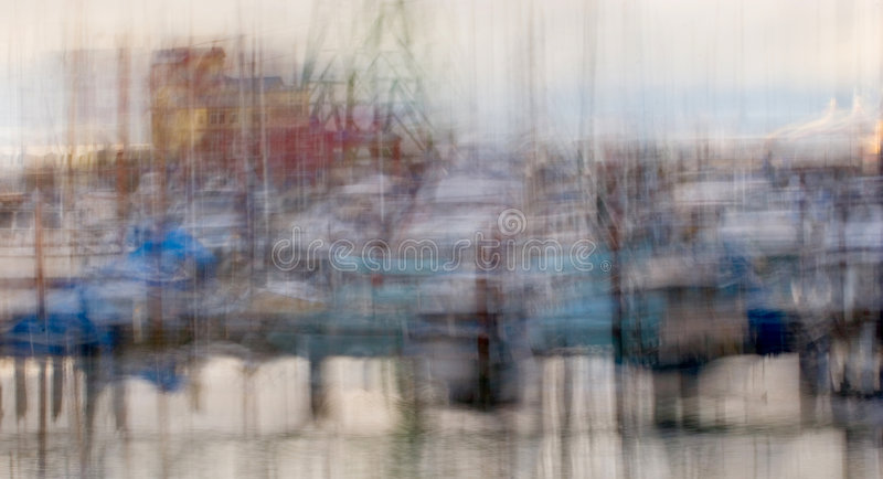 Bacino ad ovest di attracco, impressionistico royalty illustrazione gratis
