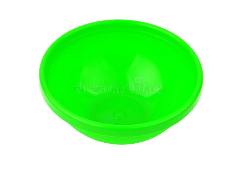 Bacino di plastica verde fotografie stock