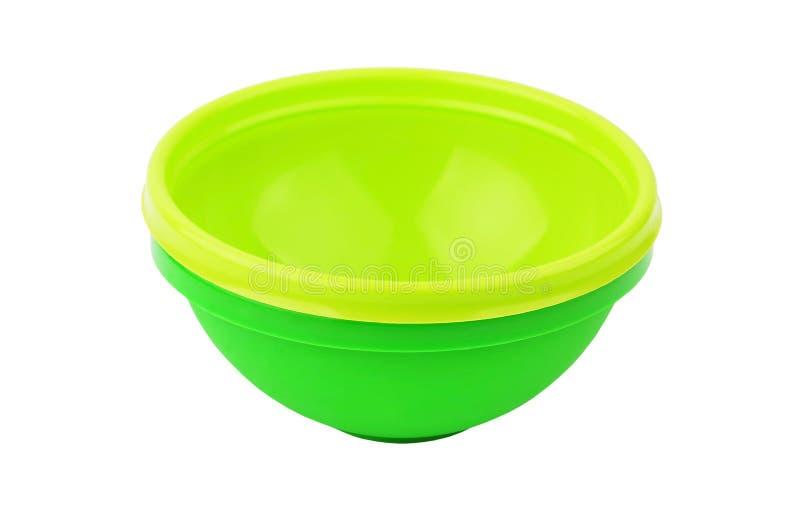 Bacino di plastica verde immagini stock