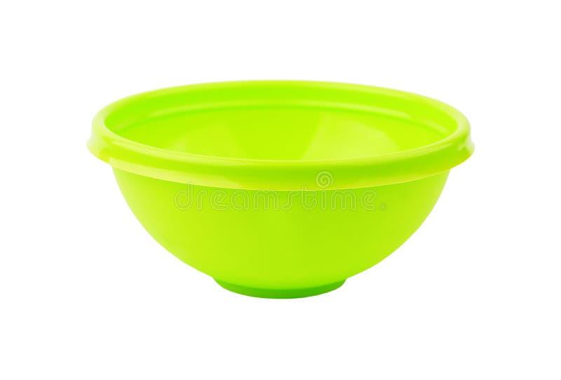 Bacino di plastica verde immagine stock libera da diritti