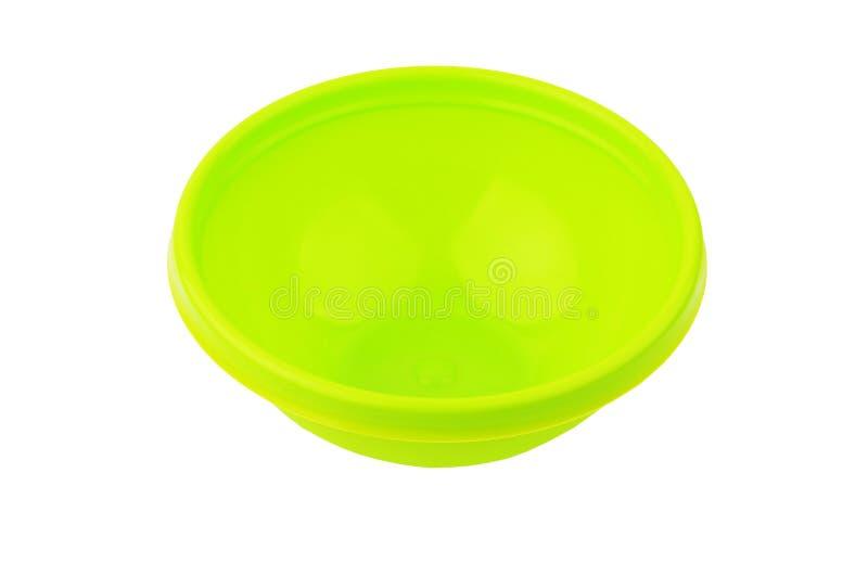 Bacino di plastica verde immagini stock libere da diritti