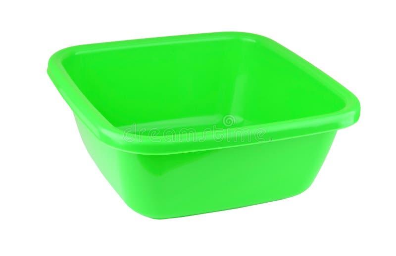 Bacino di plastica verde fotografia stock libera da diritti