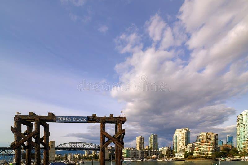 Bacino di traghetto a Granville Island in Columbia Britannica Canada fotografia stock