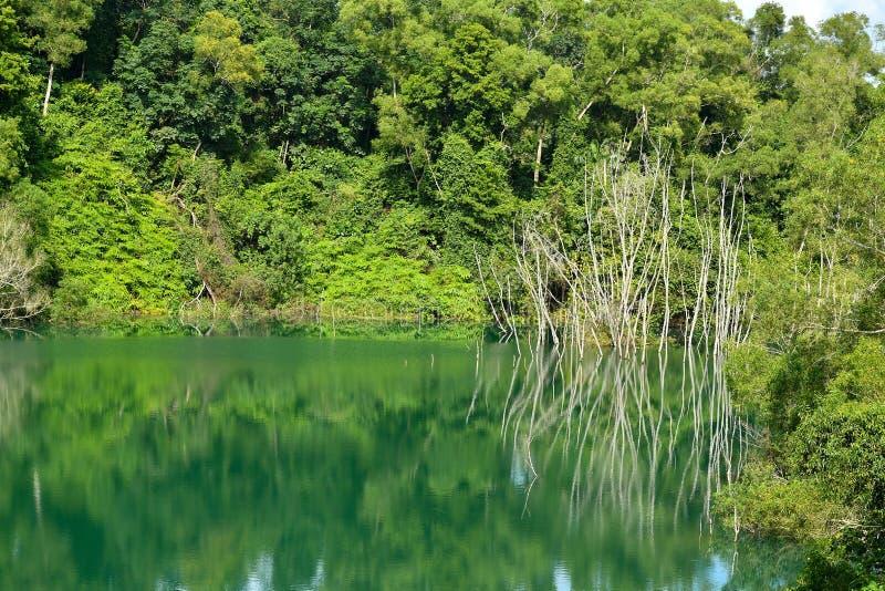 Bacino idrico del cratere della natura immagini stock