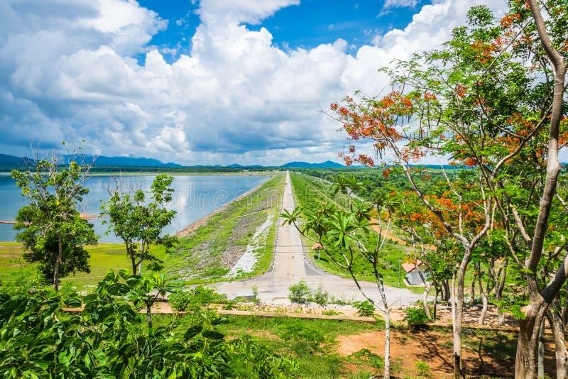 Bacino idrico della diga di Yat di si di Klong fotografie stock libere da diritti