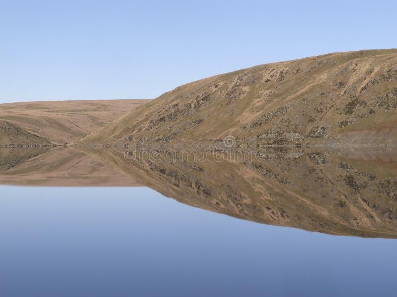 Bacino idrico di Claerwen, Elan Valley fotografie stock