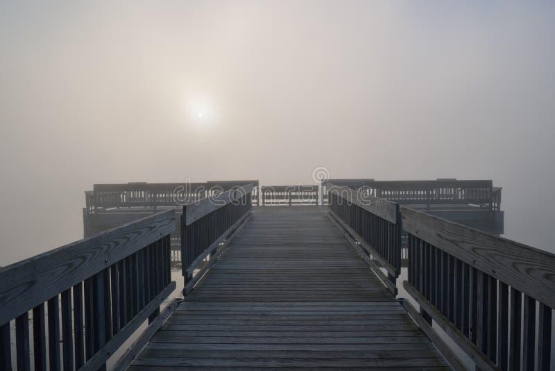 Bacino in nebbia immagini stock libere da diritti