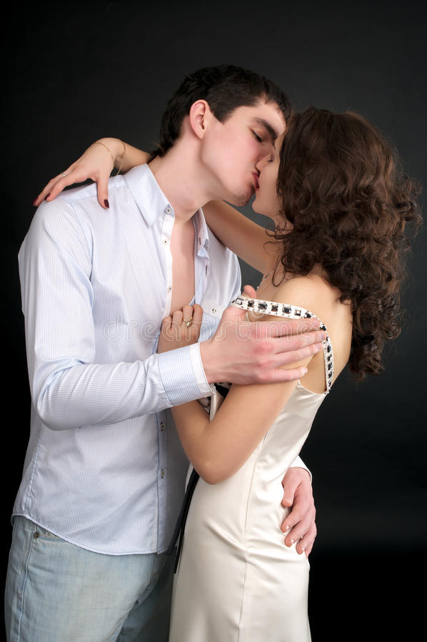 Bacio fotografie stock