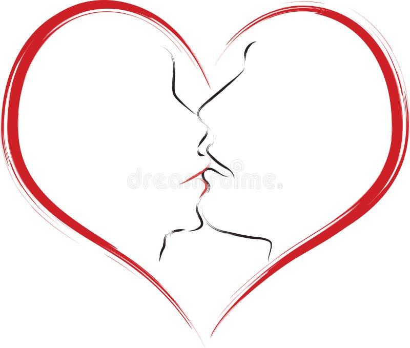 Bacio illustrazione vettoriale