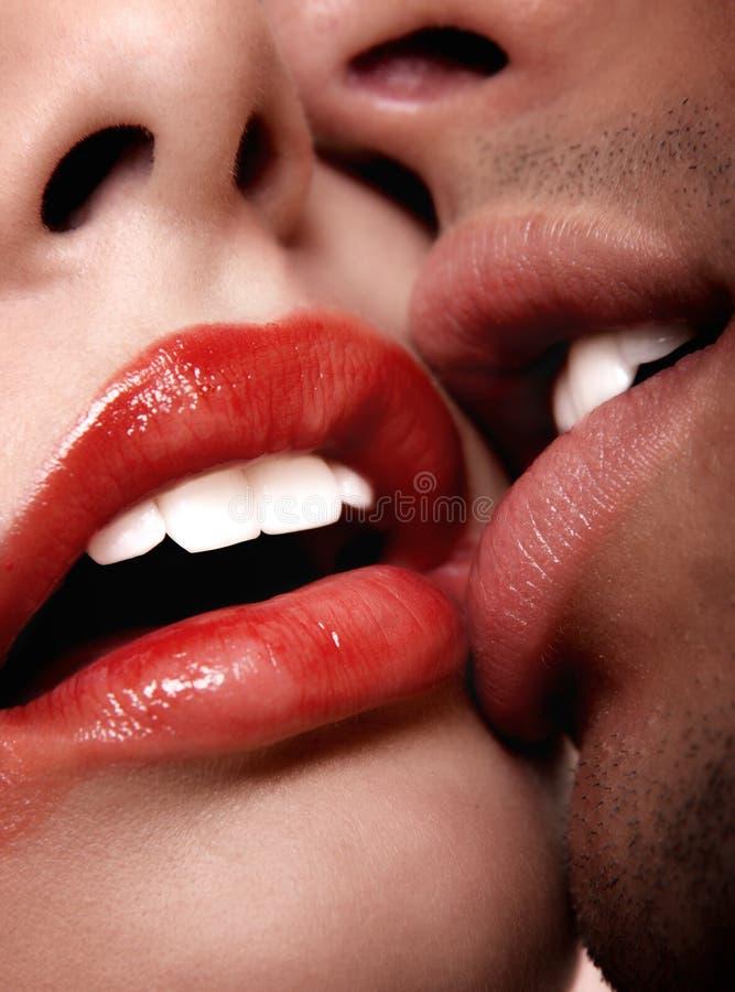 Bacio caldo immagine stock