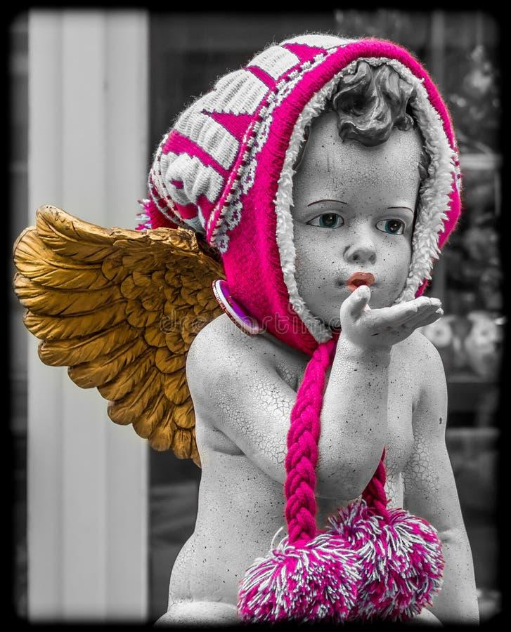 Bacio da un angelo fotografie stock