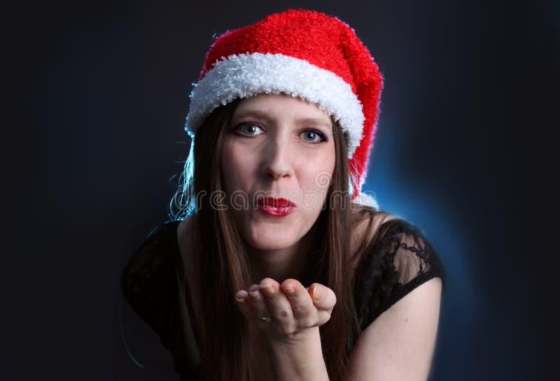 Bacio dai capelli lunghi della donna fotografia stock
