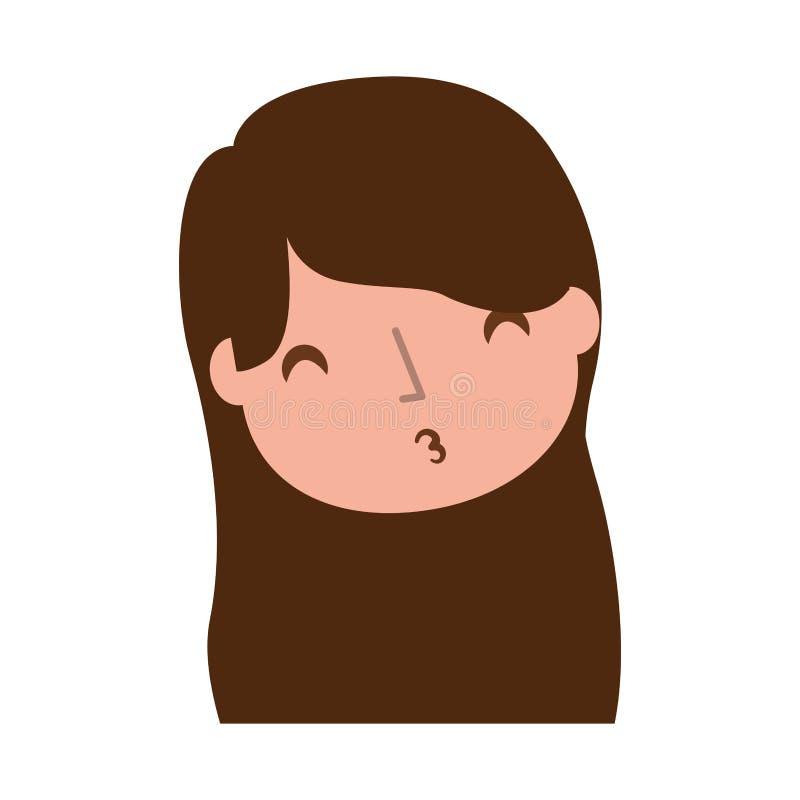 Bacio dell'aria inviato ragazza illustrazione di stock