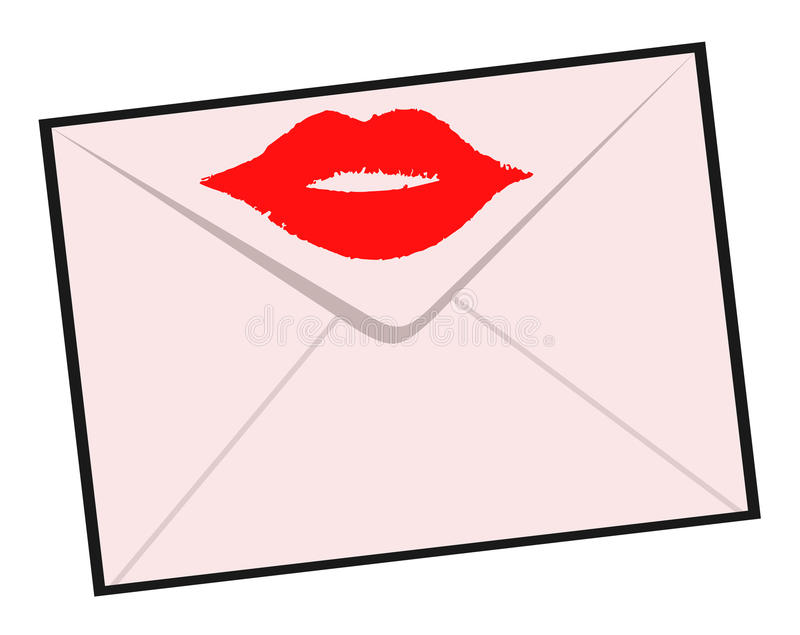 Bacio della lettera royalty illustrazione gratis