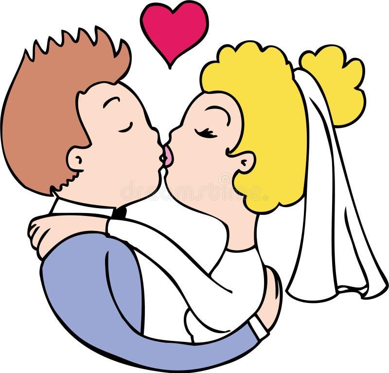 Bacio sposato royalty illustrazione gratis