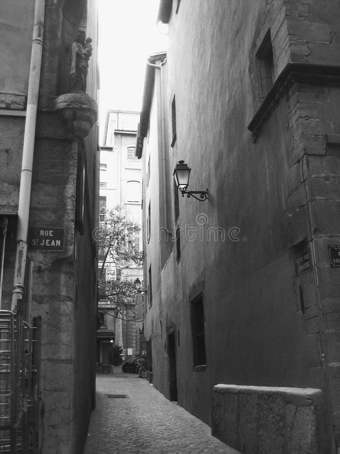 Download Back alley stock image. Image of tough, lamp, cement, downtown - 201213
